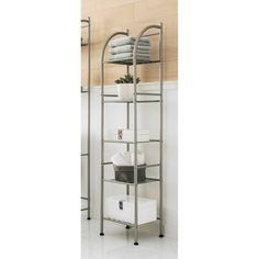 www.target.com p metal-towel-tower-brushed-nickel-threshold - A-14762731