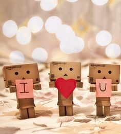 Danbo I love you All You Need Is Love, Cute Love, Funny Love, My Love, Fun Loving, Danbo, Quotes About Photography, Tumblr Photography, Bokeh Photography