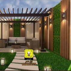 Backyard Pool Designs, Modern Backyard, Backyard Garden Design, Small Balcony Garden, Iron Stair Railing, Modern House Facades, Facade House, Landscape Lighting, Photography Backdrops