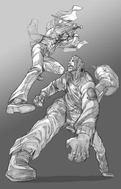 Jason vs Riley Comission by Brolo