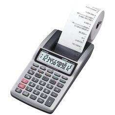 Casio Printing Calculator Portable Printer Handheld Office Accounting Tax LCD #Casio