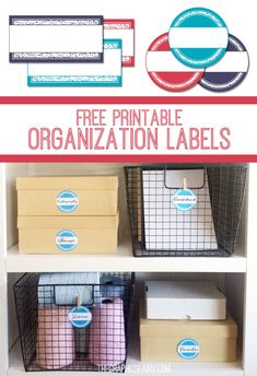 Today we have a nice set of printable storage labels to help you get organized in the new year! I've been organizing my office