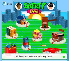 Safety Land - learn about internet safety