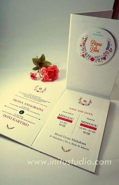 Wedding invitation by chrestella onggara via behance wedding white floral pop up invitation httpinitustudioundangan stopboris Images