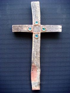 One of a Kind Reclaimed Barnwood Cross by ChristophersCrosses, $85.00