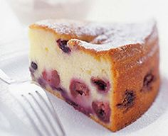 Cherry Berry Cake with Marsala Cream