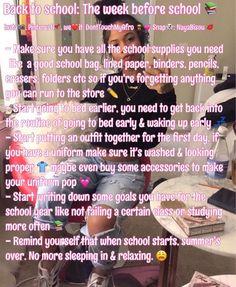 Life hacks for school, high school hacks, school goals, back to school glo Middle School Hacks, Life Hacks For School, School Study Tips, Back To School Hacks, Back To School Glo Up, High School Tips, High School Supplies, Back To School Highschool, Diy School