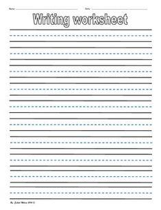 blank handwriting practice sheets