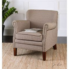 Darby Home Co Brandee Hounds-Tooth Club Chair