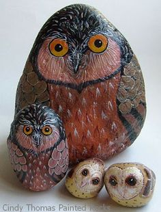 rock concert painted on rocks | Painting Rock & Stone Animals, Nativity Sets & More: Rock Painting ...