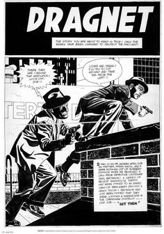 ryallsfiles:    Unpublished Dragnet cover by Alex Toth.