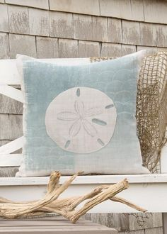 Beachcomber Sand Dollar Pillow Cover | Heritage Lace
