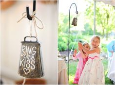 Ring for a kiss | rusticweddingchic.com...placed somewhere convenient