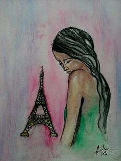 Not Made For The Big World  original watercolor by KolorAnia