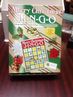 MERRY CHRISTMAS JINGO GAME, ALL AGES, 2 TO 30 PLAYERS #GaryGrimmAssoc