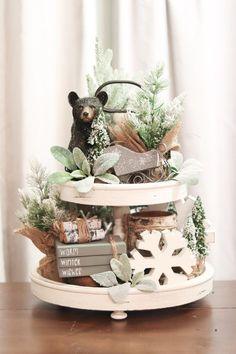 Farmhouse Christmas Decor, Farmhouse Kitchen Decor, Christmas Kitchen, Seasonal Decor, Holiday Decor, Holiday Ideas, Kitchen Tray, Hygge, Winter Home Decor