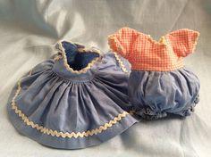 "Vtg 1950s Madame Alexander Kins Jumper&Onesie Blue Pink Gingham For 8""Wendy Doll #ClothingAccessories"