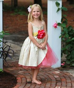 Take a look at this Magpie & Mabel Poppy Margot Dress - Infant, Toddler & Girls on zulily today!