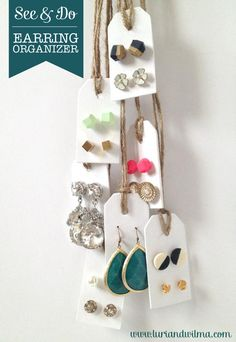 Resolve to be clutter free in 2013? Let's start with a charming little #DIY earring organizer, shall we?