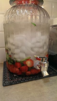 Wendy's recipes for Infused water with Fruits, Herbs, Spices and even Veggies sometimes