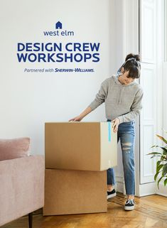 """Hey, DIYers. Need some extra inspiration in your life? @Westelm's Design Crew is here to help! They're hosting two custom in-store workshop, on August 8 and August 15, from 6 to 8 PM, covering topics from """"Starting Out"""" to """"Styling Up.""""  Plus, get a chance for a one-on-one consultation with their Home Stylists. Click through to RSVP now!"""