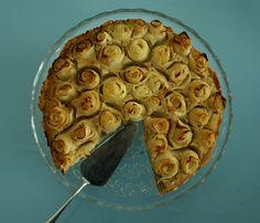 Apfelrosentarte mit Mandelcreme