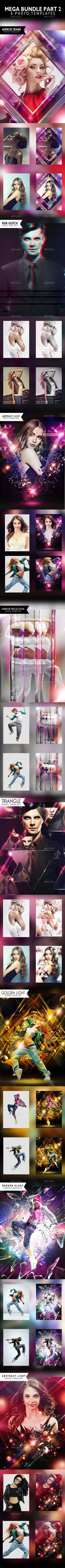 one of the best value bundles photo templates on graphicriver This pack includes 8 photo templates: All psd files are RGB A4 300