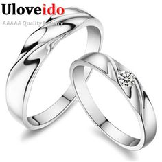 Find More Rings Information about Big Fashion Couple Rings For Men And Women Silver Plated Korean Style With CZ Diamond Crystal Stone Jewelry Lovers' Gift J061,High Quality ring,China ring tray Suppliers, Cheap ring single from Ulovestore Fashion Jewelry on Aliexpress.com