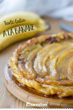 On se régale avec cette recette facile de tarte tatin aux bananes caramélisées... #recettemarmiton #marmiton #recette #recettefacile #recetterapide #faitmaison #cuisine #ideesrecettes #inspiration