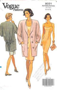 VOGUE 8031 - FROM 1991 - UNCUT - MISSES JACKET & DRESS