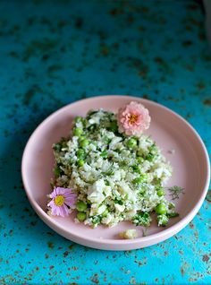 Cauliflower Salad with peas...oh so healthy says Judith