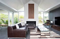 Double Gable Eichler remodel by Klopf Architecture in Burlingame, CA