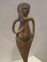 Female Figurine Egyptian Dynasty 18 or 19 ca 1350-1200 BCE Terracotta