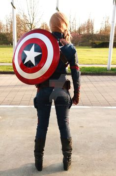 Female Captain America - Civil War #5 by MicJacSmile on @DeviantArt