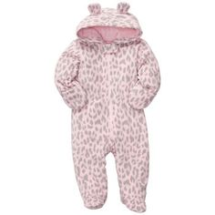 Fleece Pram - perfect for winter babies since its so hard to find a snow suit of any kind in newborn sizes! Carter's - $22.80