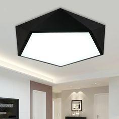 82.99$  Buy now - http://alidbm.worldwells.pw/go.php?t=32701844720 - Modern Led Ceiling Lights AC 90-260V Geometry Shape Remote Control Lustre Lumiere Plafond Lamp Luminaria De Teto Abajur Lampen