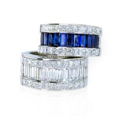 Bez Ambar –Sapphire and diamond wedding bands.  Available at Alson Jewelers.