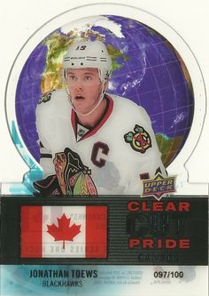 2012-13 Upper Deck Clear Cut Pride of Canada #PCA2 Jonathan Toews