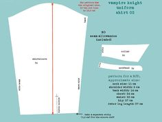 Vampire Knight Uniform Pattern Shirt 2 by DemonViridian.deviantart.com on @deviantART
