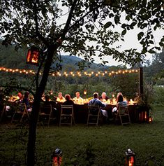 Outdoor Dining at Blackberry Farm. Travel+Leisure 4/2013. Few al fresco dinners compare to those at Blackberry Farm in TN's Great Smoky Mountains. Great hotel for foodies.