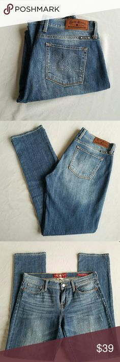 Lucky Brand Sofia Straight Jeans Outer-seam 41 in  Inseam 32 in Waist 16.5 in Excellent condition  Feel free to ask me any additional questions. Reasonable offers are considered. No trades, or modeling. Happy Poshing! Lucky Brand Jeans Straight Leg