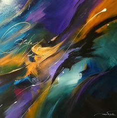 Original abstract paintings and a collection of limited edition luxurious silk scarves by Jaanika Talts. Abstract Canvas Art, Oil Painting Abstract, Canvas Art Prints, Large Art, Abstract Landscape, Painting Techniques, Abstract Expressionism, Photo Art, Arrow Keys