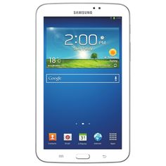 "Samsung Galaxy Tab 3 7"" 8GB Android 4.1 Tablet With Marvell PXA986 Processor - White #Roboform and #MyDearSantaWishList"