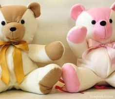20 Free Patterns to Sew Your Own Teddy Bears: HowJoyful Bear: Tutorial and Pattern
