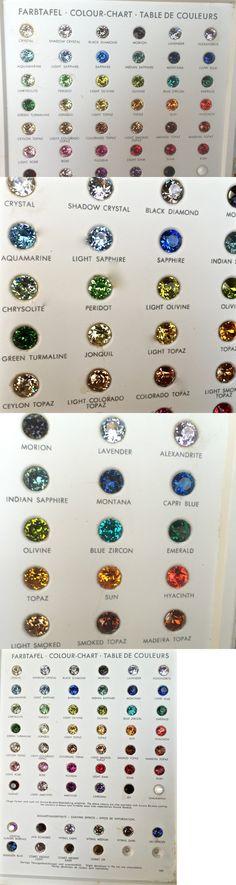 Loose Gemstones 40132 Loose Gemstones Sample Color Chart 1962 - sample general color chart