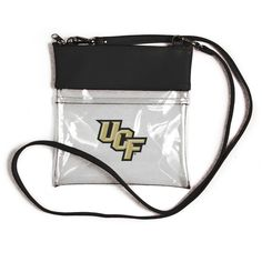 Vegan Leather Trim and Tassels Desden LSU Tigers Clear Handbag and Wristlet Combo with Logo