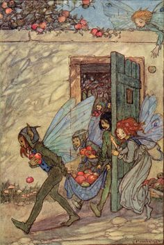 Fairy Mischief - Elfin Song, a Book of Verse and Pictures by Florence Harrison, 1912