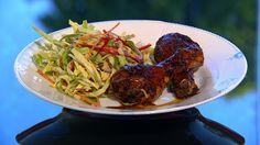 Marineret kylling med asiatisk slaw