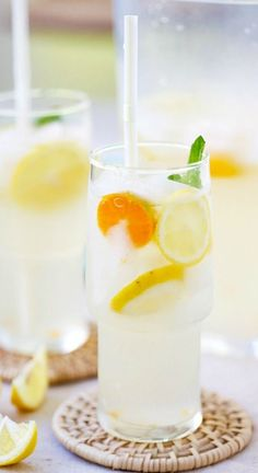 Coconut Water Lemonade – amazing and refreshing lemonade made with coconut water and fresh lemon juice. The best lemonade recipe ever! | rasamalaysia.com