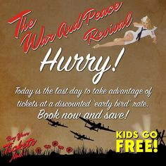 Hurry! Today is the last day to take advantage of the tickets at a discounted price 'early bird rate' book now and save! Warandpeacerevival.com #warandpeacerevival #celebration #military #vintage #militaryvehicles #vintagevehicles #entertainment #modelvillage #arena #displays #homefront #veterans #reenactment #livinghistory #tanks #ww1 #ww2 #stalls #traders #militaria #classiccars #vintagelifestyle #merchandise